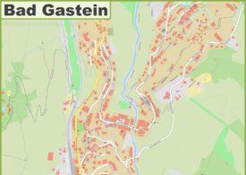Detailed map of Bad Gastein