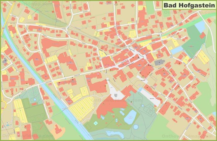 Bad Hofgastein city center map