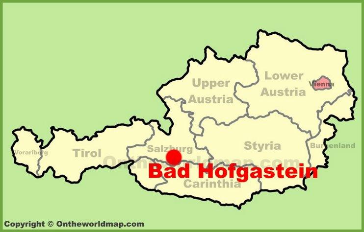Bad Hofgastein location on the Austria Map