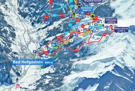 Bad Hofgastein ski map