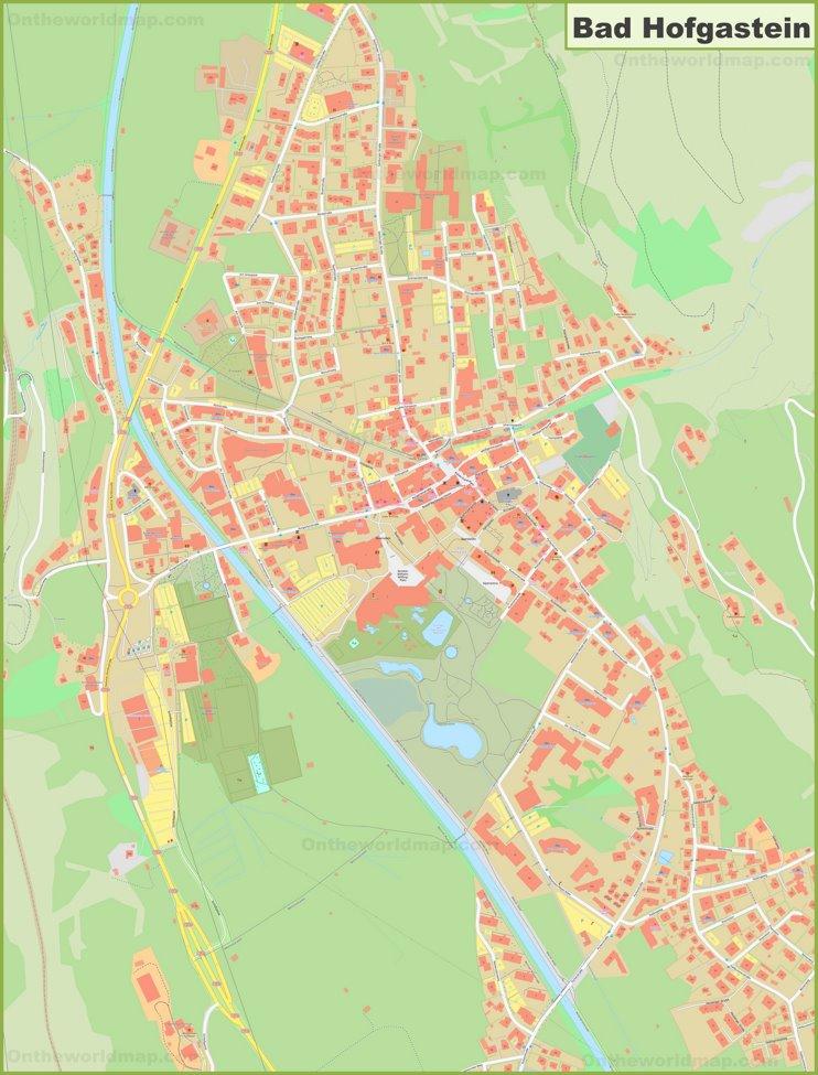 Detailed map of Bad Hofgastein