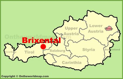 Brixental Location Map