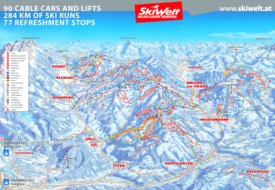 SkiWelt ski map