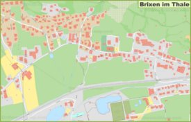 Detailed map of Brixen im Thale
