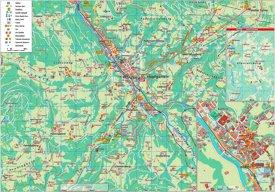 Hopfgarten im Brixental tourist map