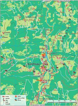 Kelchsau tourist map