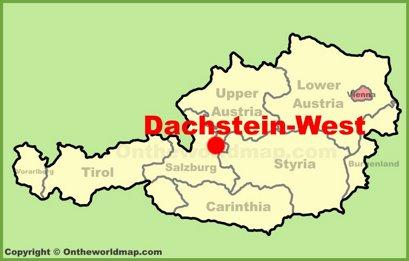Dachstein-West Location Map