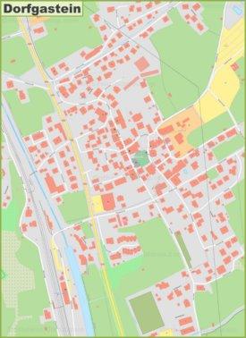 Detailed map of Dorfgastein