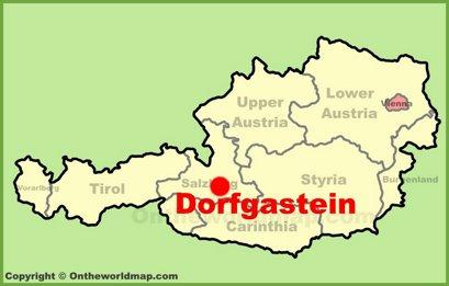 Dorfgastein Location Map
