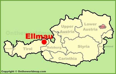 Ellmau Location Map