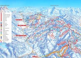 Ellmau ski map