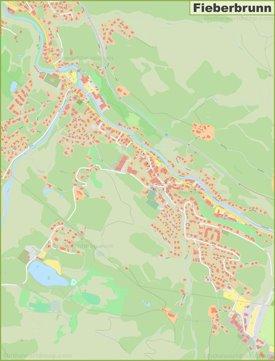 Detailed map of Fieberbrunn