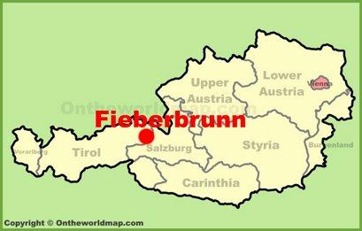 Fieberbrunn Location Map