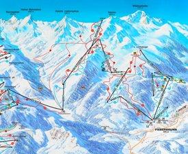 Fieberbrunn ski map