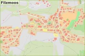 Detailed map of Filzmoos