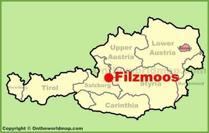 Filzmoos Location Map