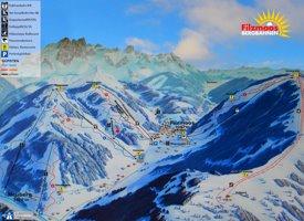 Filzmoos ski map