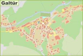 Detailed map of Galtür