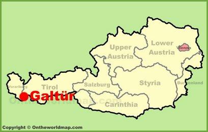 Galtür Location Map