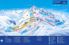 Galtür ski map