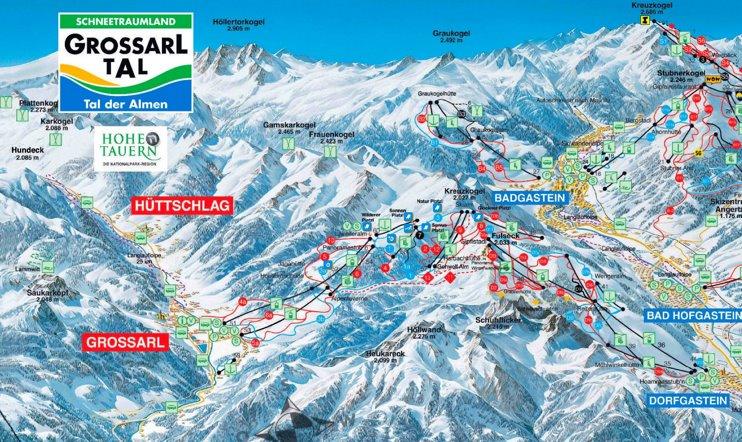 Grossarl ski map