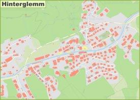 Detailed map of Hinterglemm