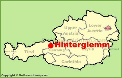 Hinterglemm Location Map
