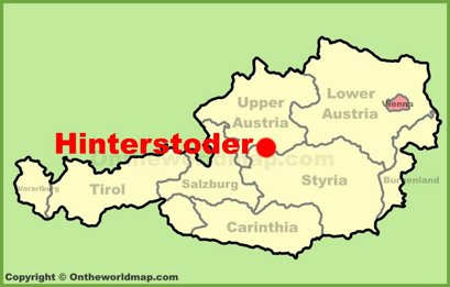 Hinterstoder Location Map
