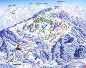 Hinterstoder ski map