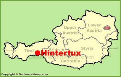 Hintertux Location Map