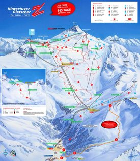 Hintertux ski map