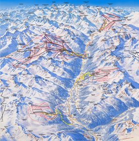 Kappl, Galtür, Ischgl and See ski map