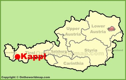 Kappl Location Map