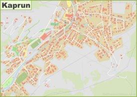 Detailed map of Kaprun