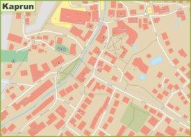 Kaprun city center map