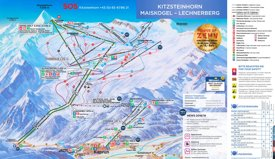 Kaprun ski map