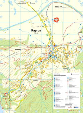Kaprun tourist map