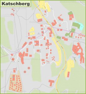 Detailed map of Katschberg