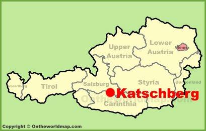 Katschberg Location Map