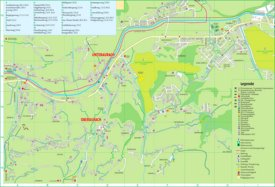 Aurach tourist map