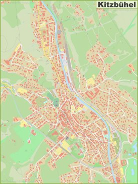 Detailed map of Kitzbühel