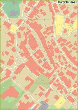 Kitzbühel city center map