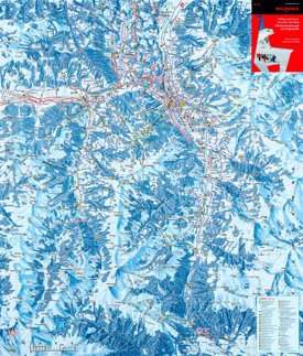 Kitzbühel hiking and cross country trails map