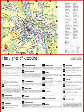 Kitzbühel sightseeing map