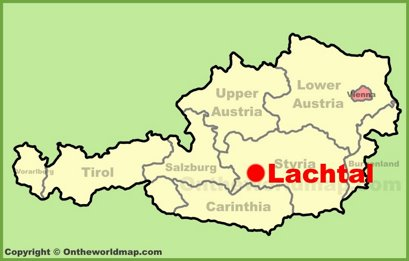 Lachtal Location Map