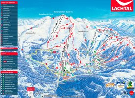 Lachtal ski map