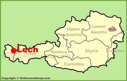 Lech Location Map