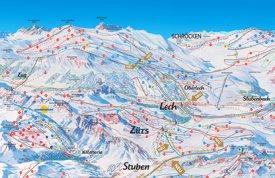Lech ski map