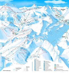 Lech and Zürs ski map