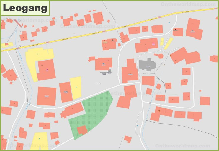 Detailed map of Leogang